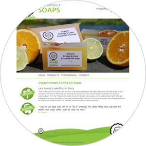 Website created for Lake District Soaps