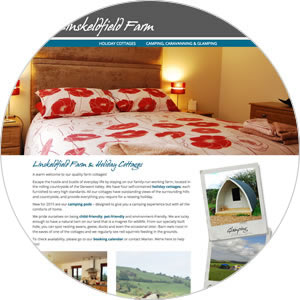 Website created for Linskeldfield Farm & Holiday Cottages