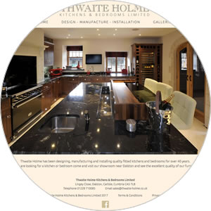 Website created for Thwaite Holme Kitchens & Bedrooms Limited